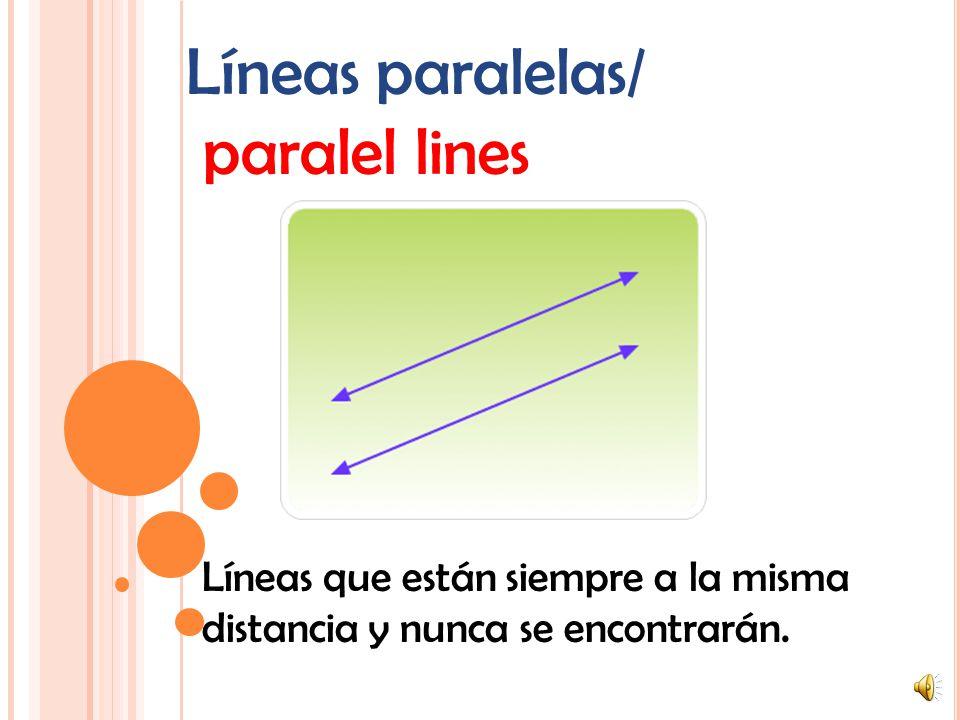Líneas paralelas/ paralel lines
