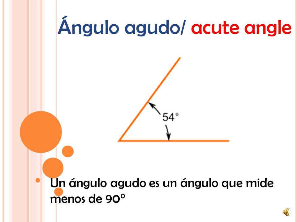 Ángulo agudo/ acute angle