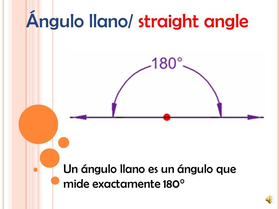 Ángulo llano/ straight angle
