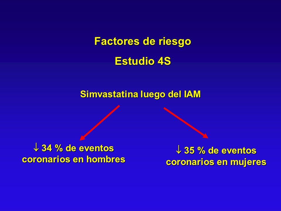 Factores de riesgo Estudio 4S