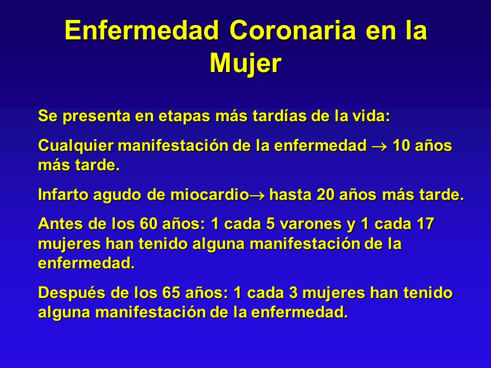 Enfermedad Coronaria en la Mujer