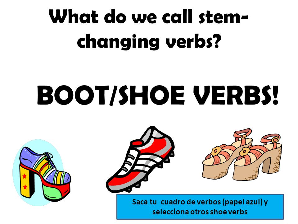 What do we call stem-changing verbs