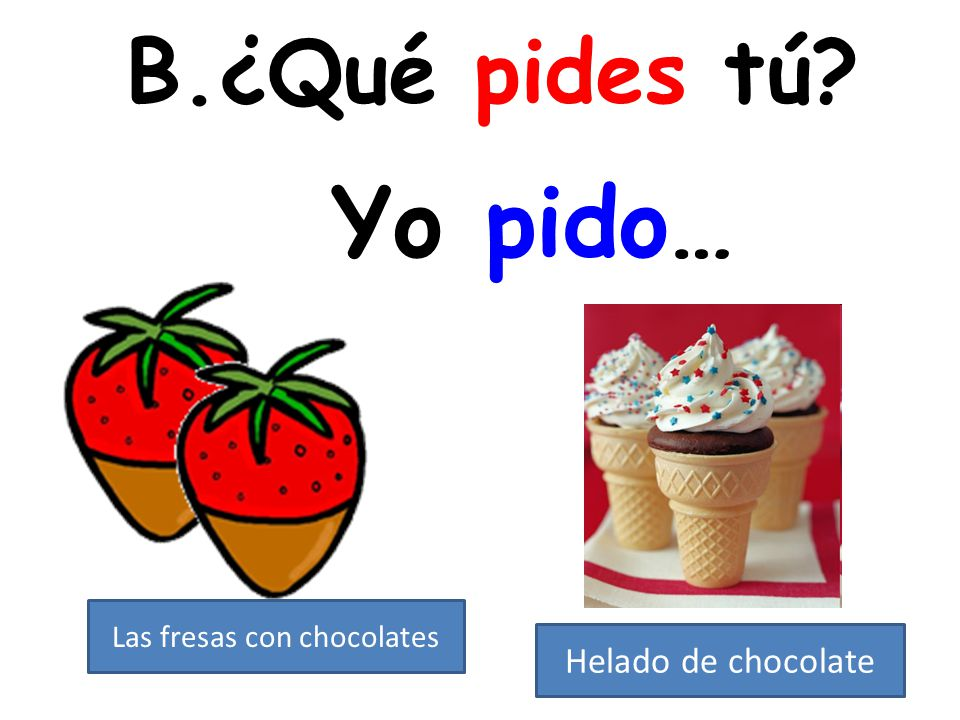 Las fresas con chocolates