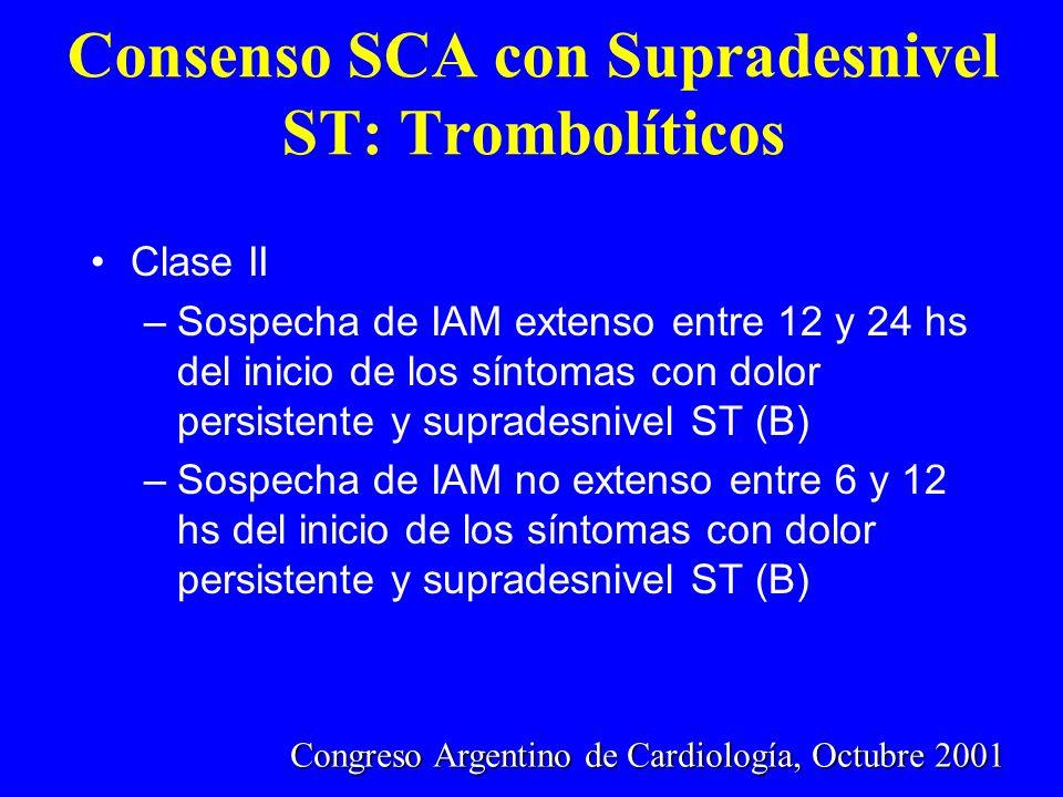 Consenso SCA con Supradesnivel ST: Trombolíticos