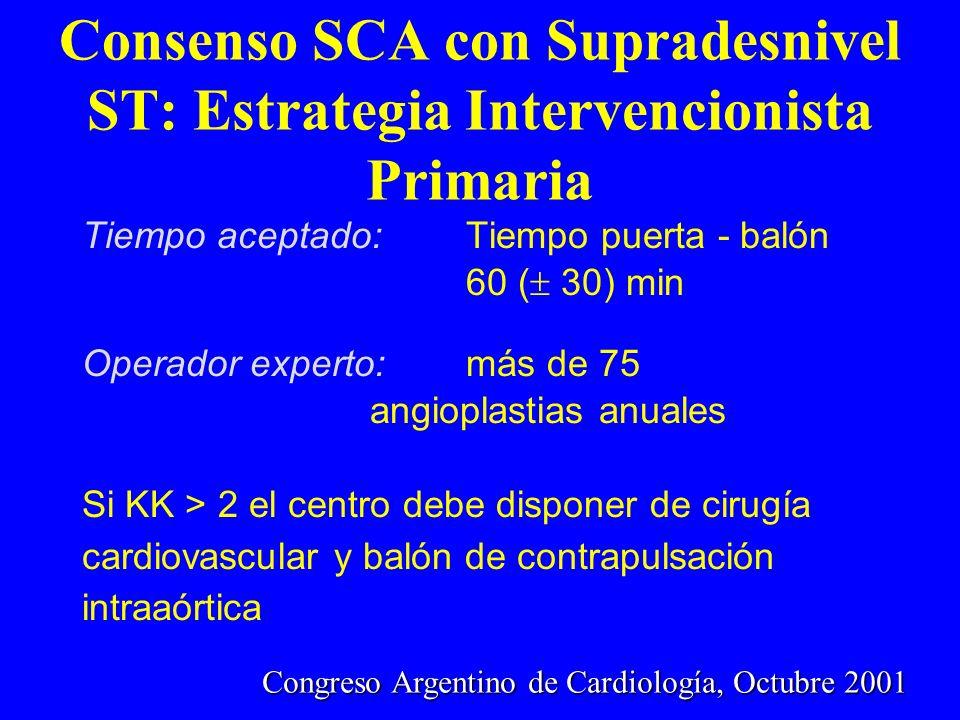 Congreso Argentino de Cardiología, Octubre 2001