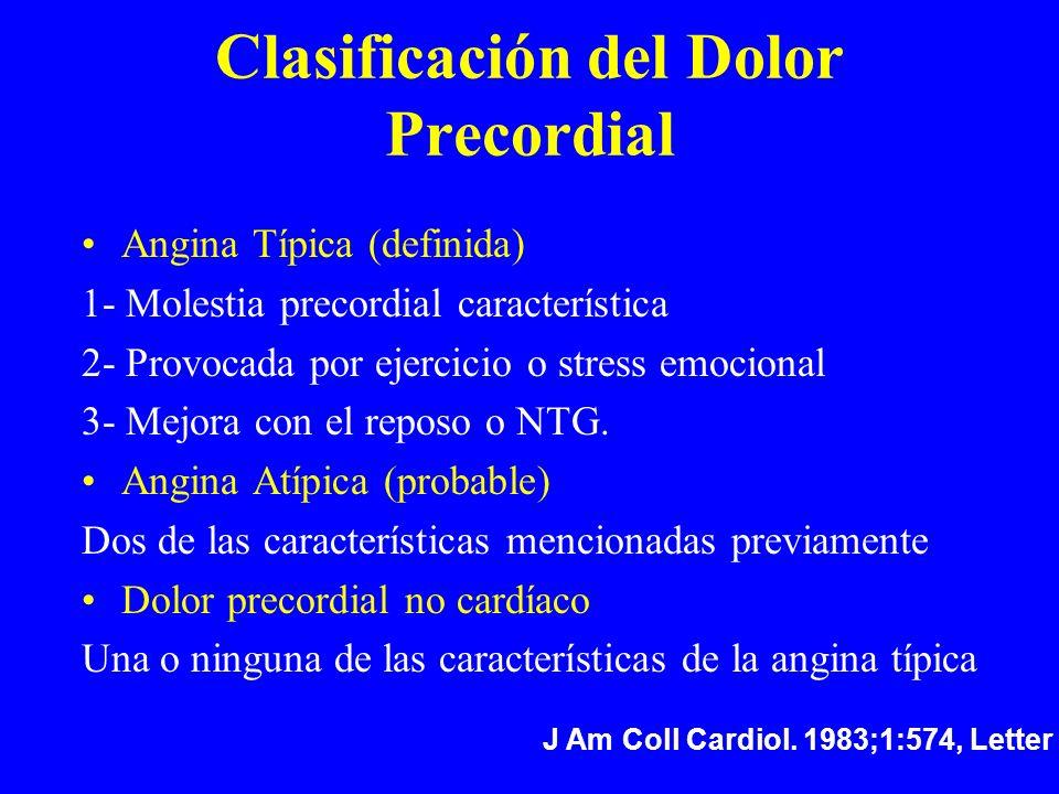 Clasificación del Dolor Precordial