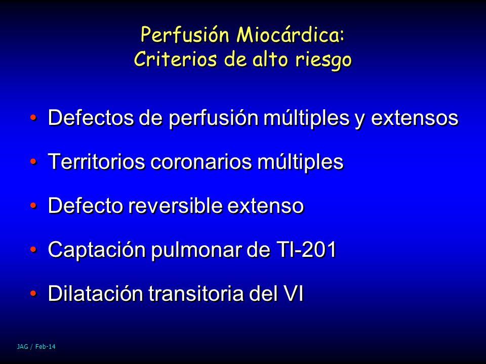 Perfusión Miocárdica: Criterios de alto riesgo