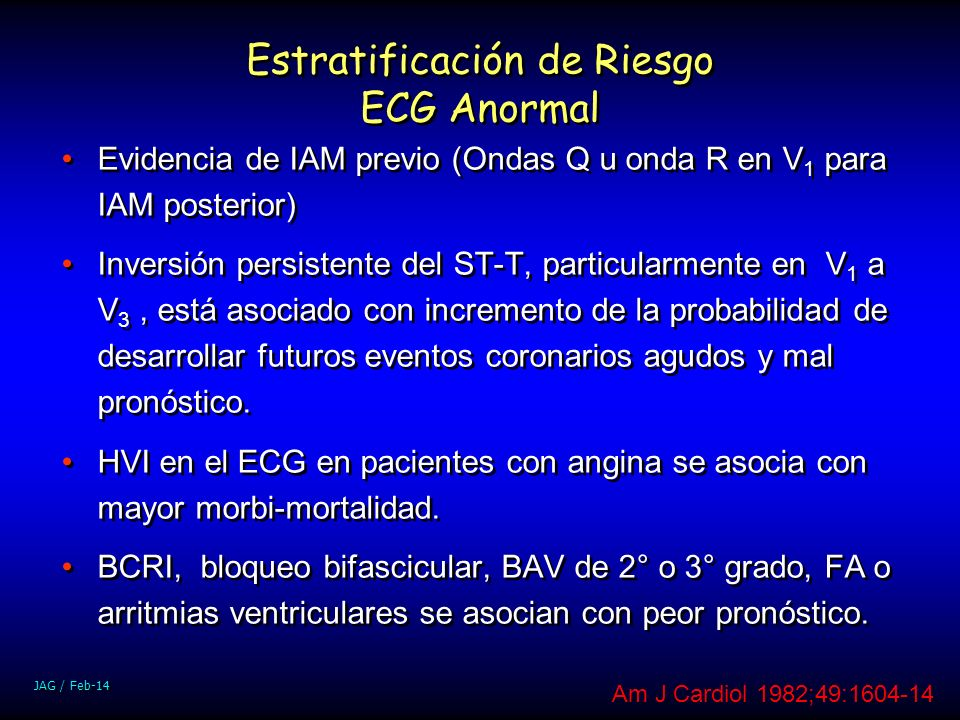 Estratificación de Riesgo ECG Anormal