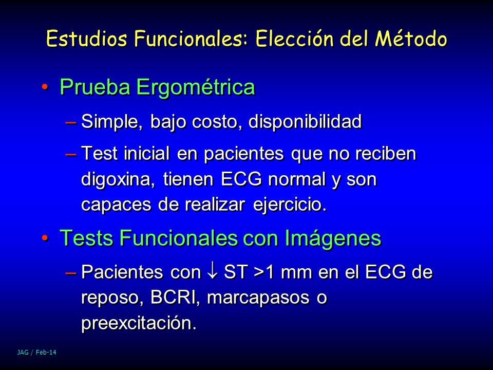 Estudios Funcionales: Elección del Método