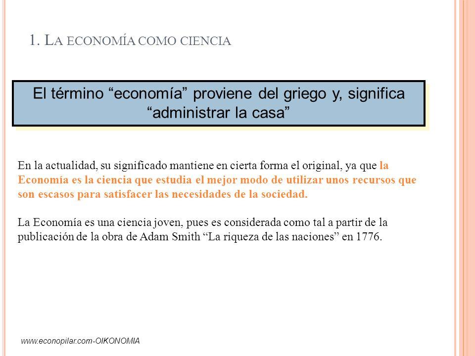 1. La economía como ciencia