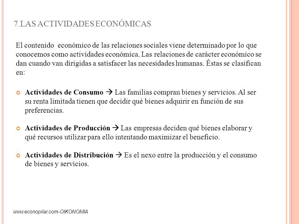 7.LAS ACTIVIDADES ECONÓMICAS