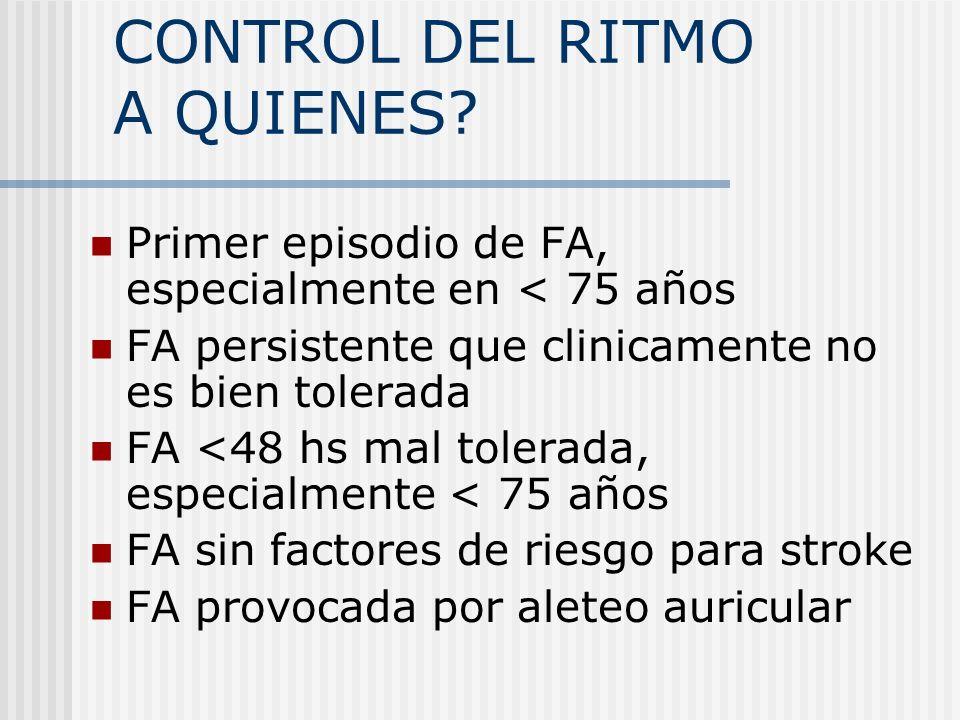 CONTROL DEL RITMO A QUIENES