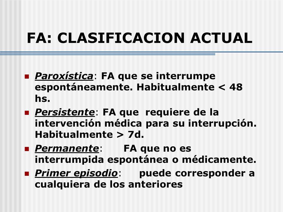 FA: CLASIFICACION ACTUAL