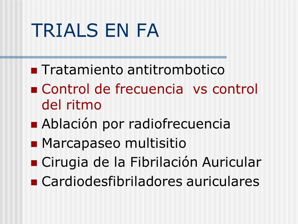 TRIALS EN FA Tratamiento antitrombotico