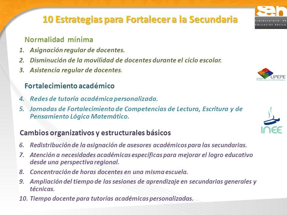 10 Estrategias para Fortalecer a la Secundaria