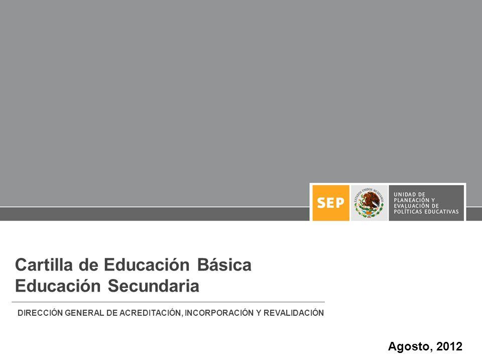 Cartilla de Educación Básica Educación Secundaria