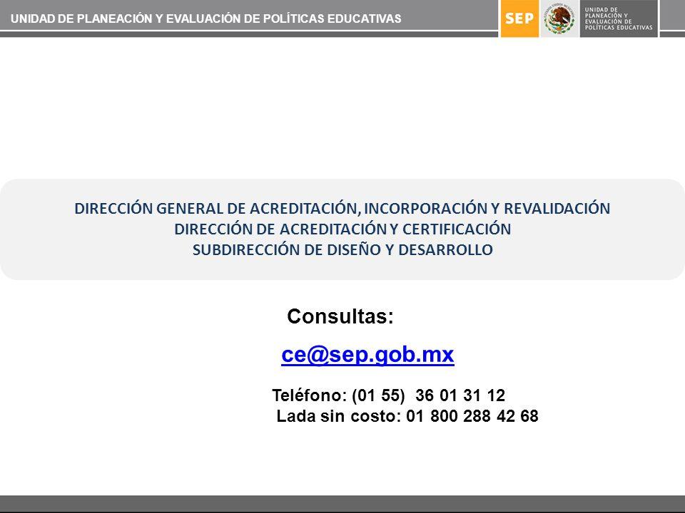 ce@sep.gob.mx Consultas:
