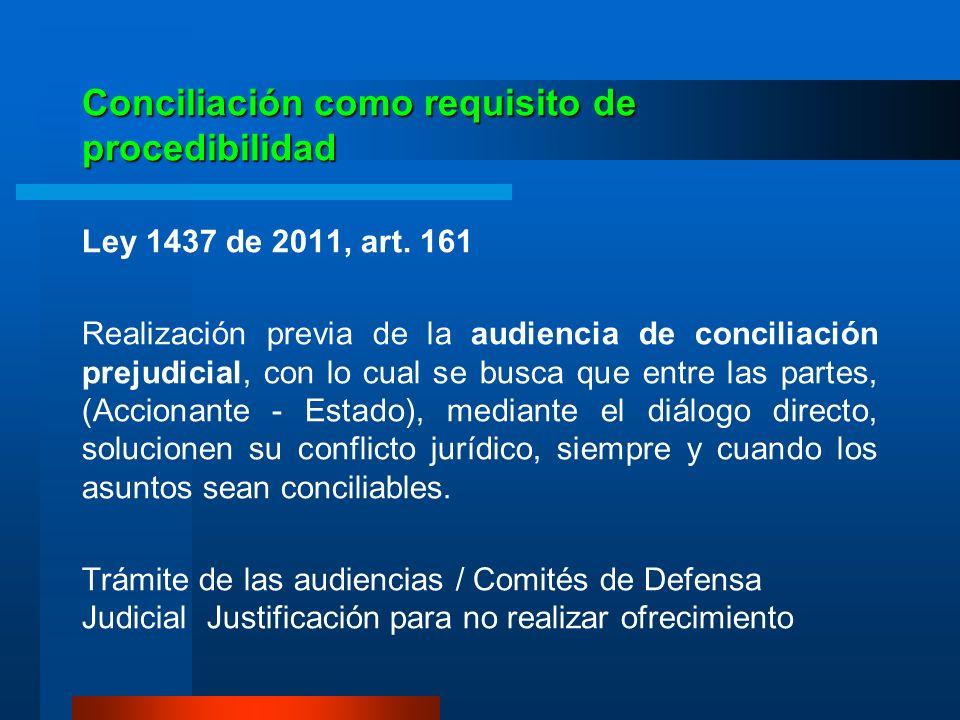 Conciliación como requisito de procedibilidad