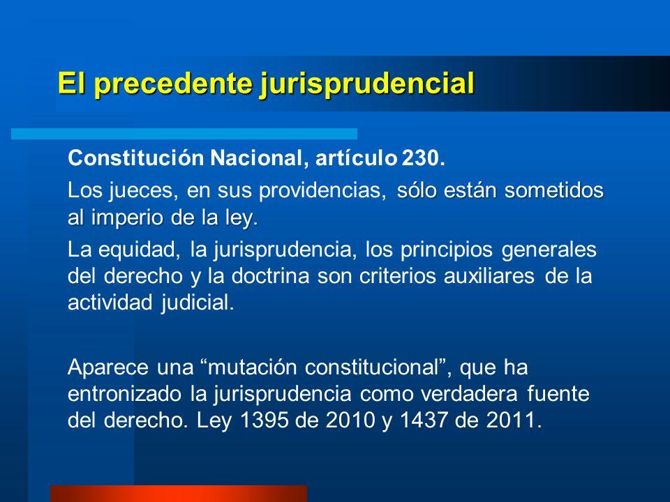 El precedente jurisprudencial