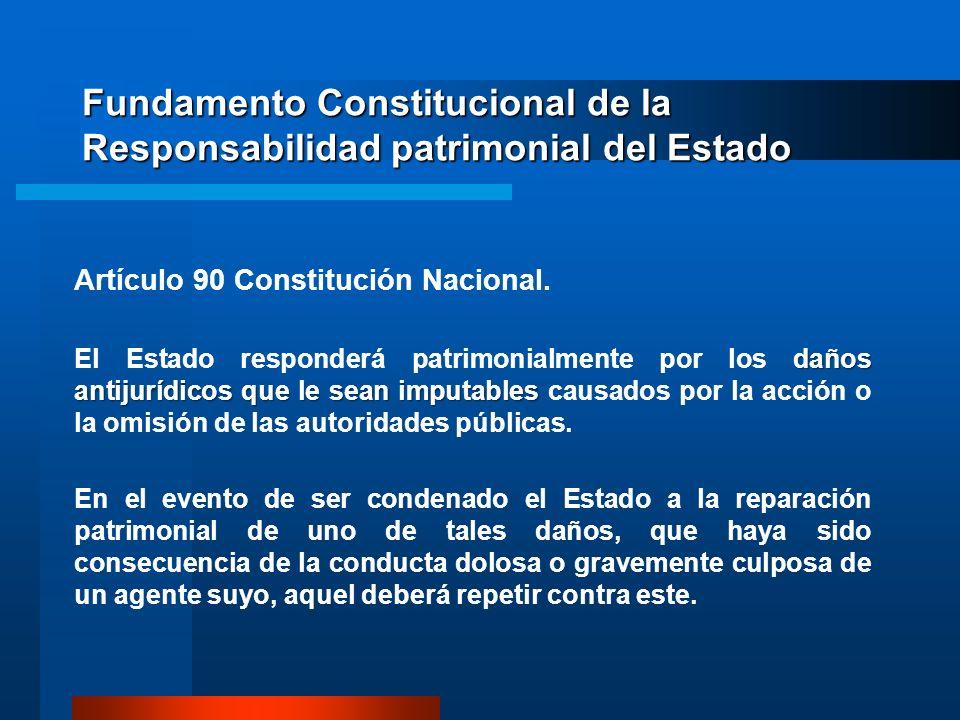 Fundamento Constitucional de la Responsabilidad patrimonial del Estado