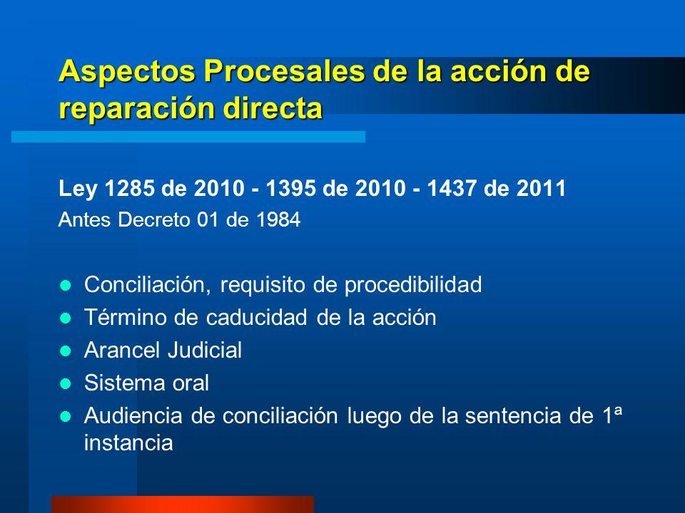 Aspectos Procesales de la acción de reparación directa