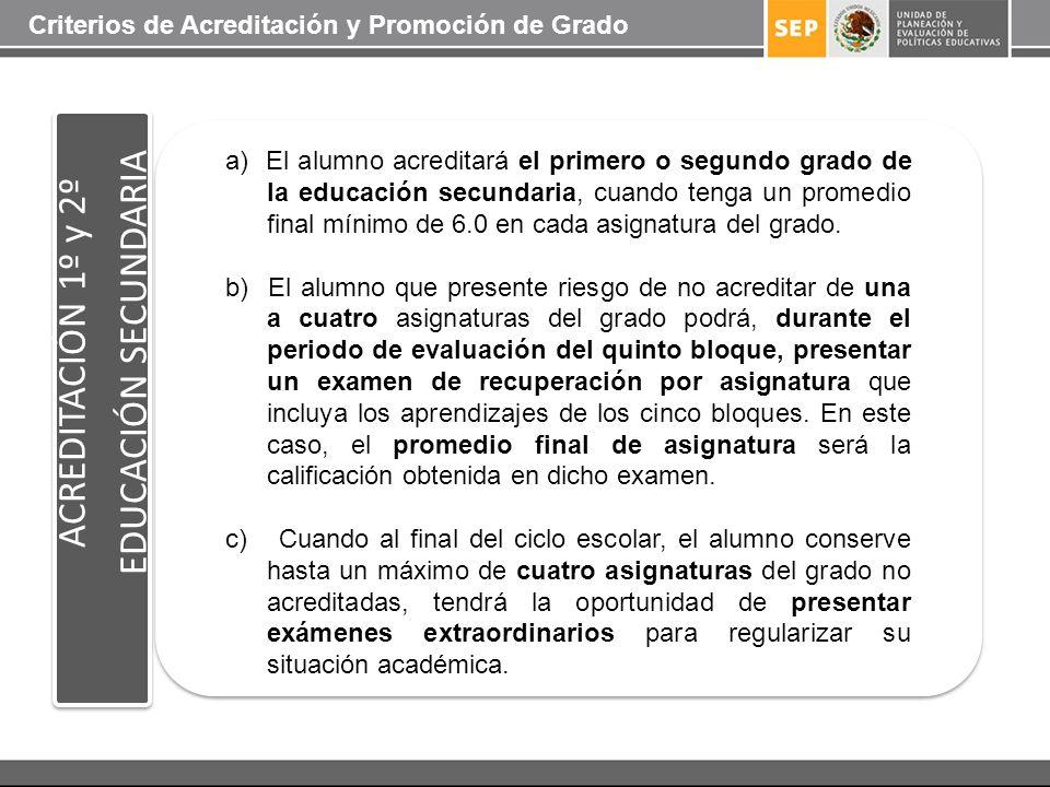 EDUCACIÓN SECUNDARIA ACREDITACIÓN 1º y 2º
