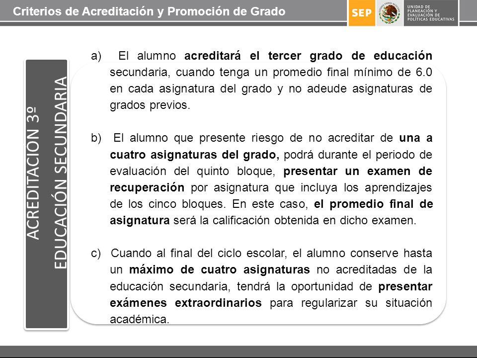 EDUCACIÓN SECUNDARIA ACREDITACIÓN 3º