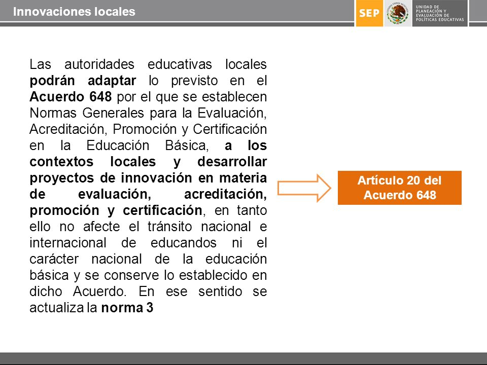Innovaciones locales
