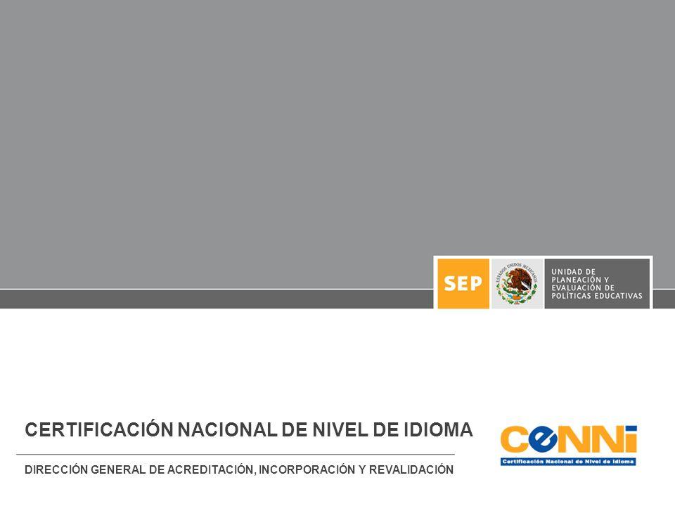 CERTIFICACIÓN NACIONAL DE NIVEL DE IDIOMA