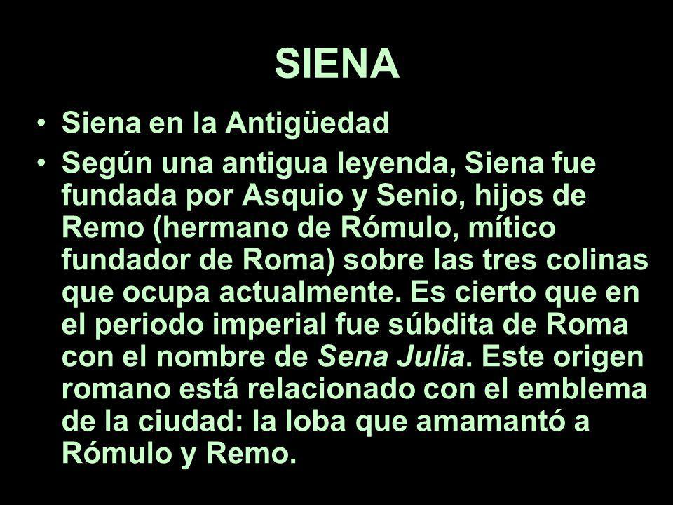 SIENA Siena en la Antigüedad