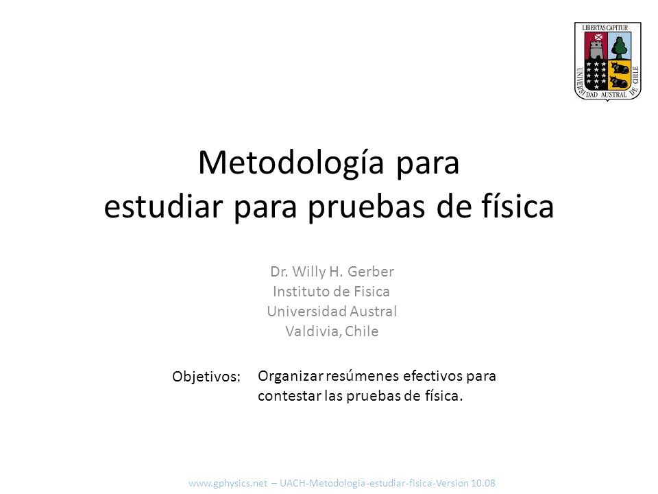 Metodología para estudiar para pruebas de física