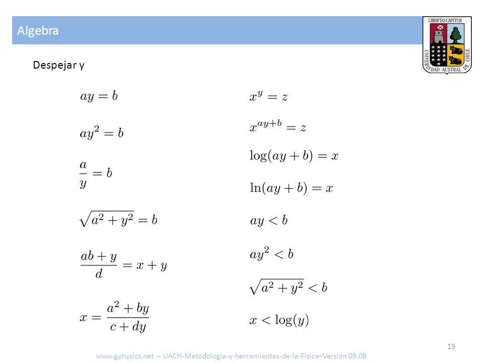 Algebra Despejar y www.gphysics.net – UACH-Metodologia-y-herramientas-de-la-Fisica–Versión 09.08