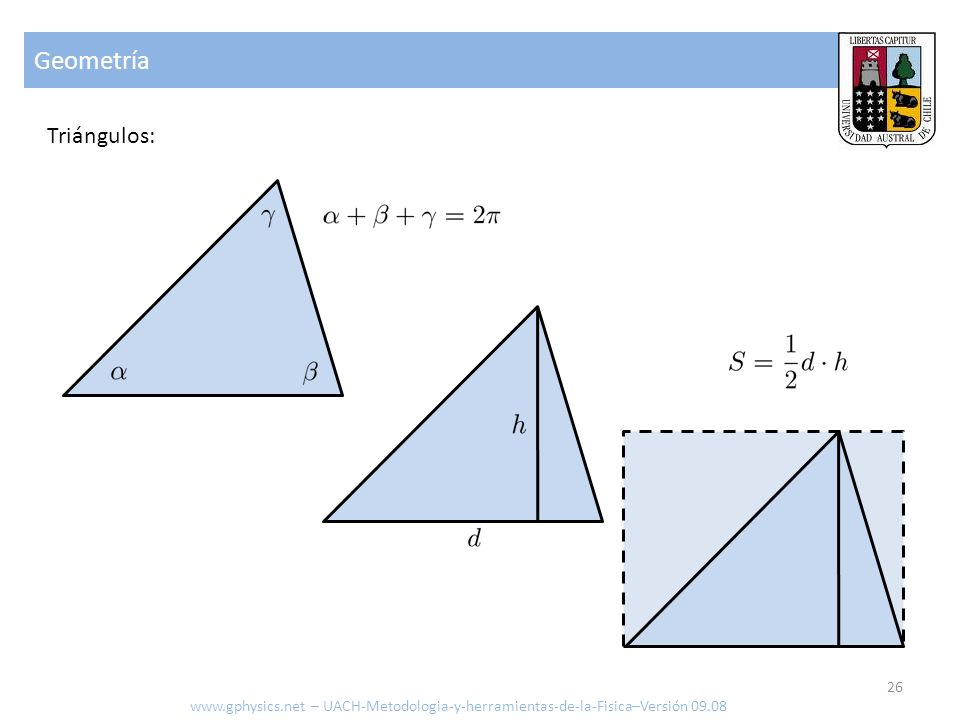 Geometría Triángulos: