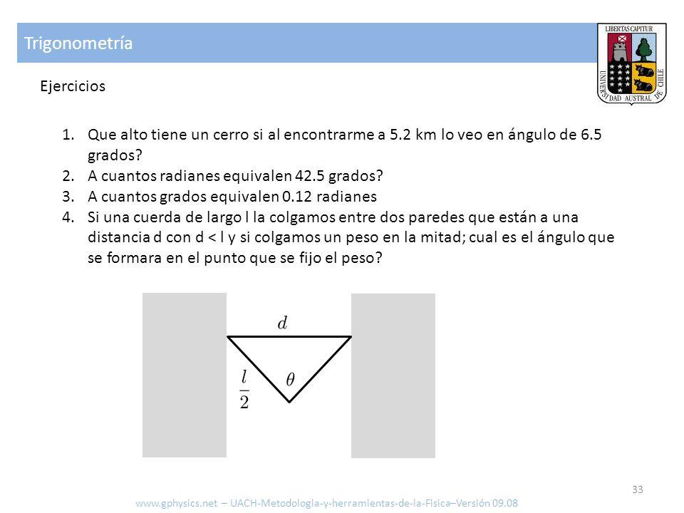 Trigonometría Ejercicios