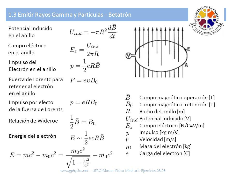 1.3 Emitir Rayos Gamma y Partículas - Betatrón