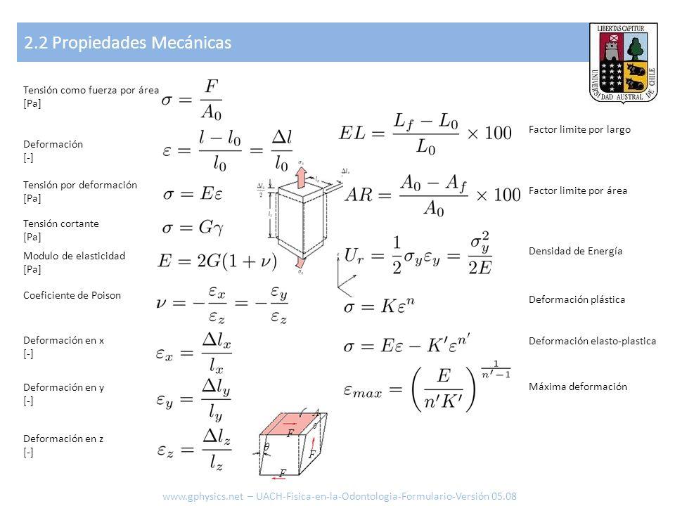 2.2 Propiedades Mecánicas