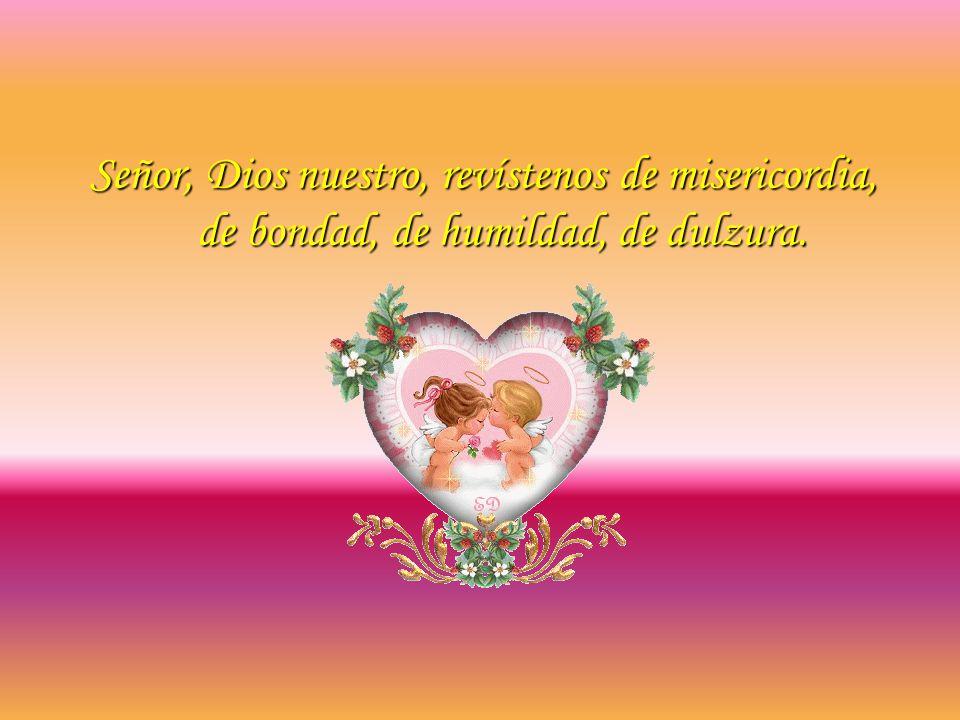 Señor, Dios nuestro, revístenos de misericordia, de bondad, de humildad, de dulzura.