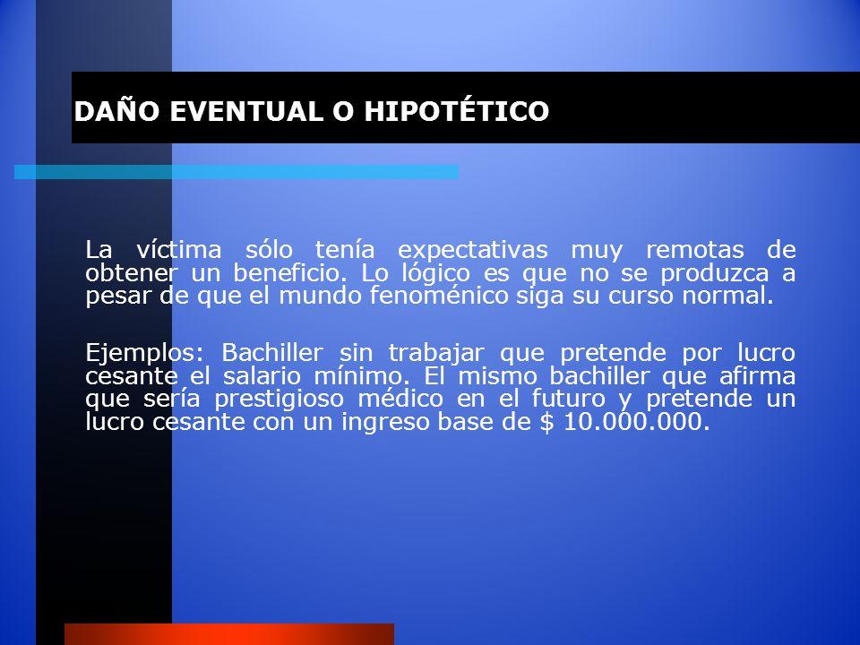 DAÑO EVENTUAL O HIPOTÉTICO