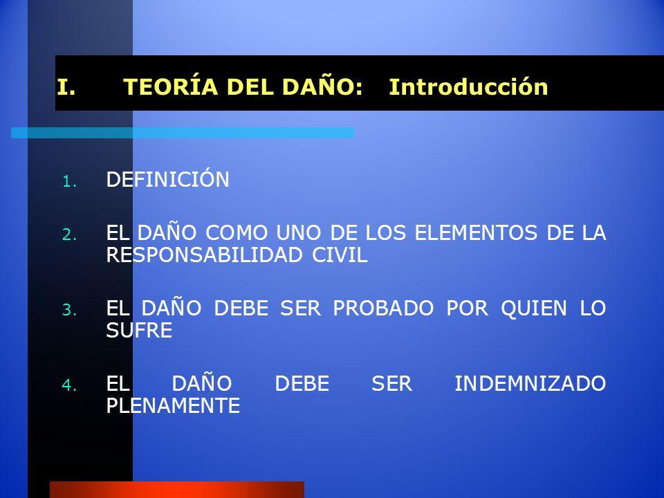 I. TEORÍA DEL DAÑO: Introducción
