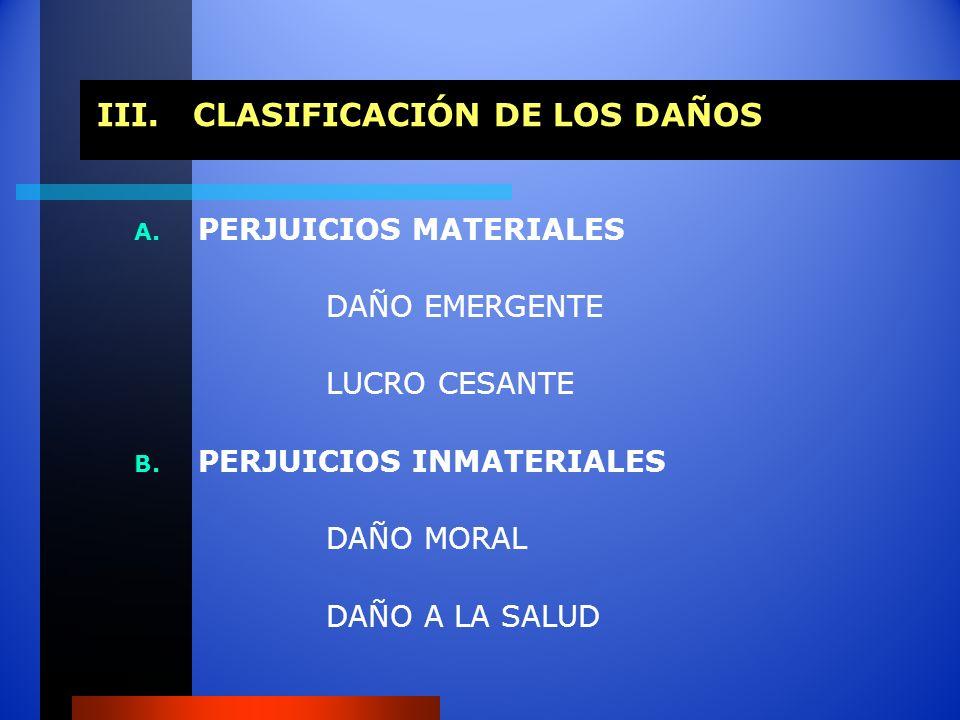 III. CLASIFICACIÓN DE LOS DAÑOS