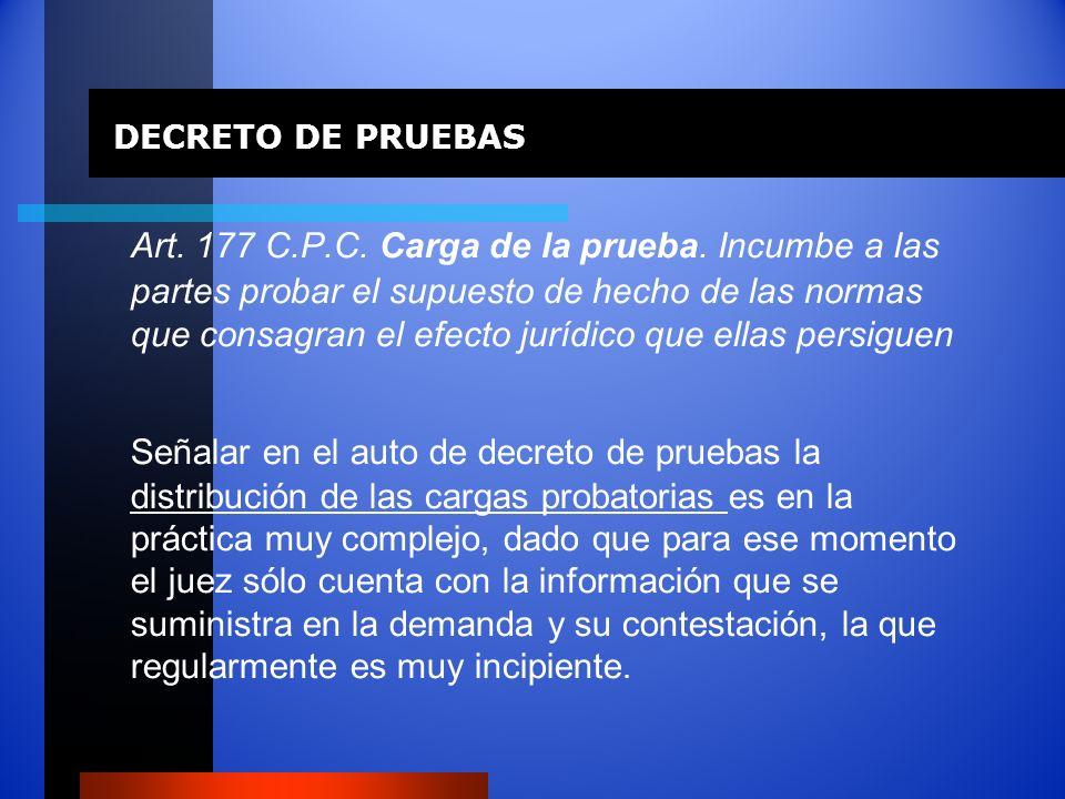 DECRETO DE PRUEBAS
