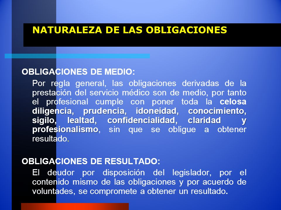 NATURALEZA DE LAS OBLIGACIONES