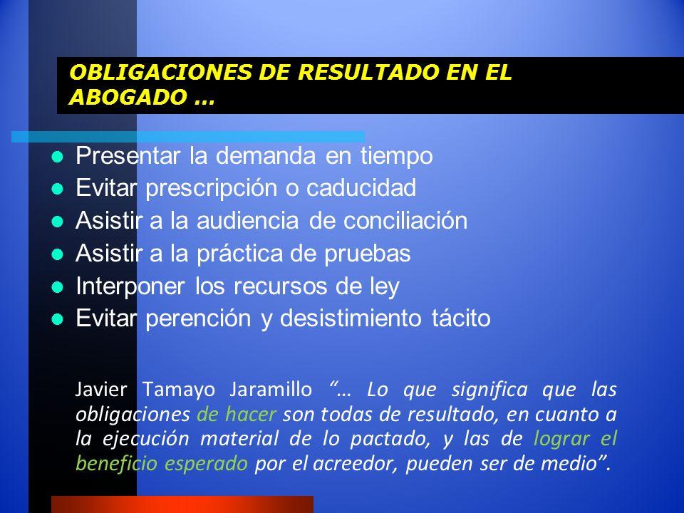 OBLIGACIONES DE RESULTADO EN EL ABOGADO …