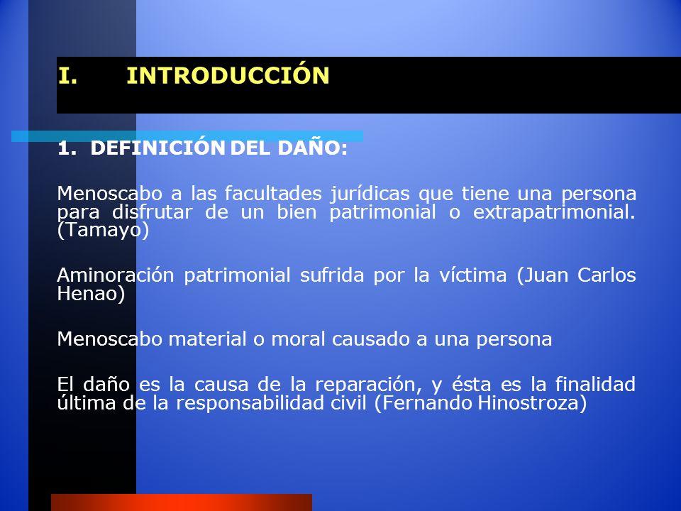 I. INTRODUCCIÓN 1. DEFINICIÓN DEL DAÑO: