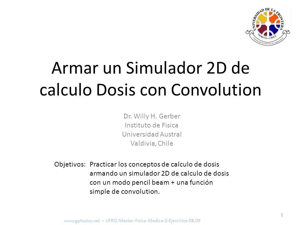 Armar un Simulador 2D de calculo Dosis con Convolution