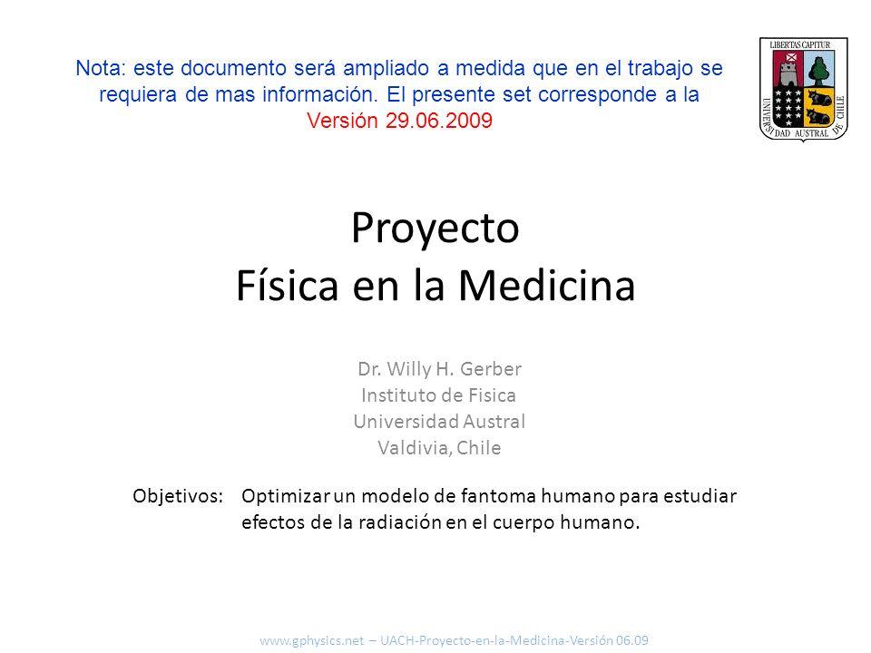 Proyecto Física en la Medicina