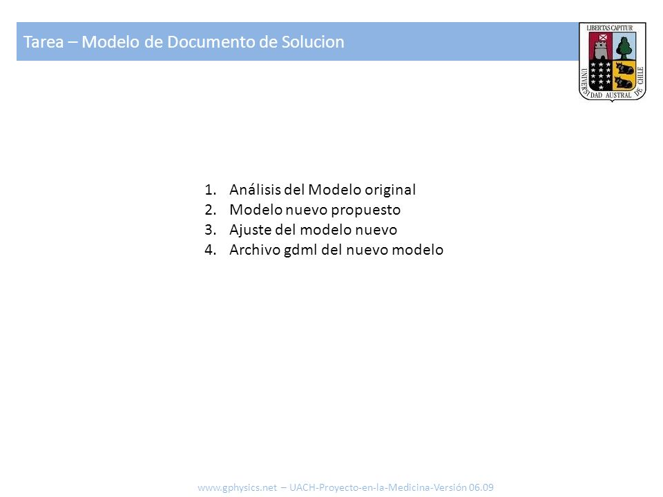 Tarea – Modelo de Documento de Solucion
