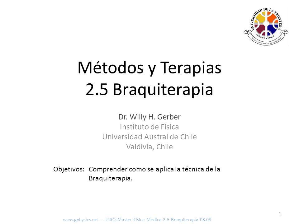 Métodos y Terapias 2.5 Braquiterapia