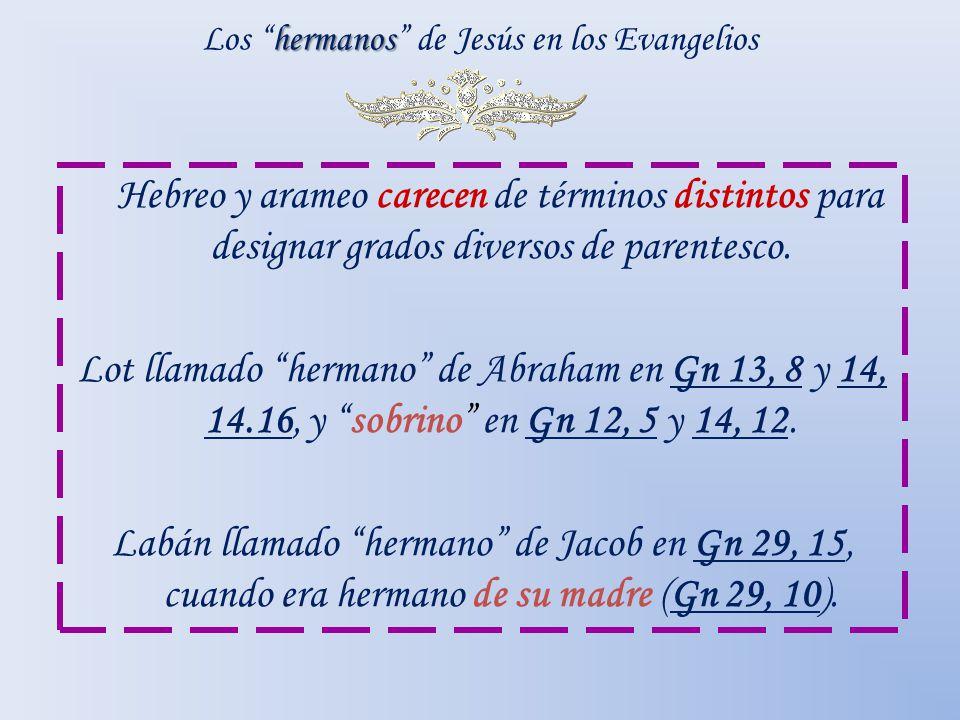 Los hermanos de Jesús en los Evangelios