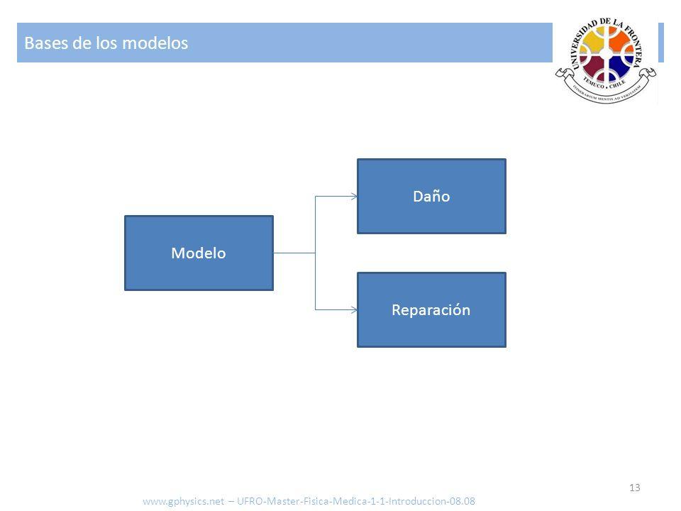 Bases de los modelos Daño Modelo Reparación